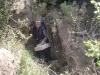 Juan Carlos saliendo de la mina La Amorosa